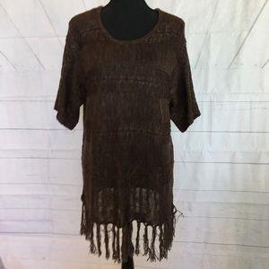 ARIAT Sweater/Tunic With Fringed Hem S/M